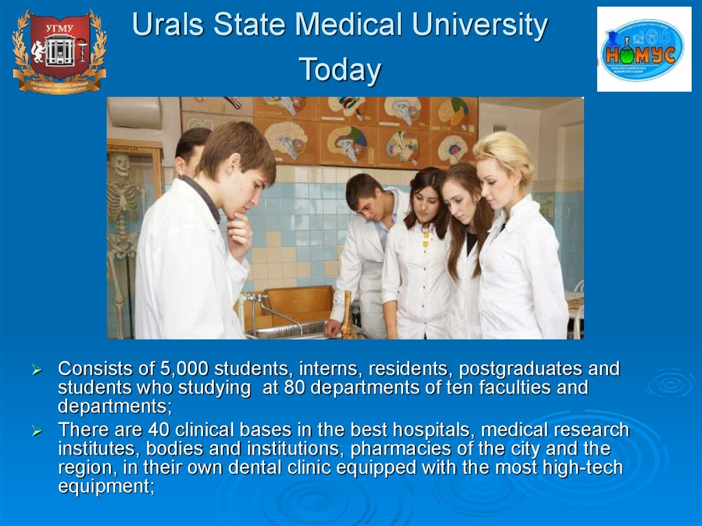 Urals State Medical University Today