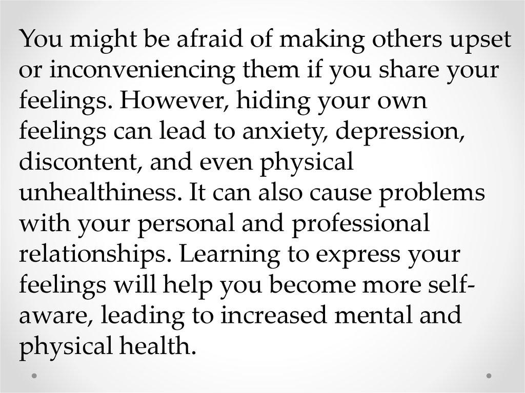 Share your feelings online