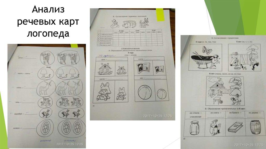Отчет по практике online presentation Анализ речевых карт логопеда