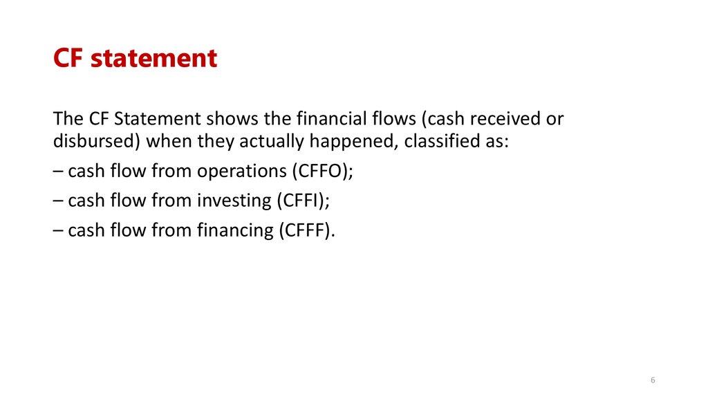 cf statement