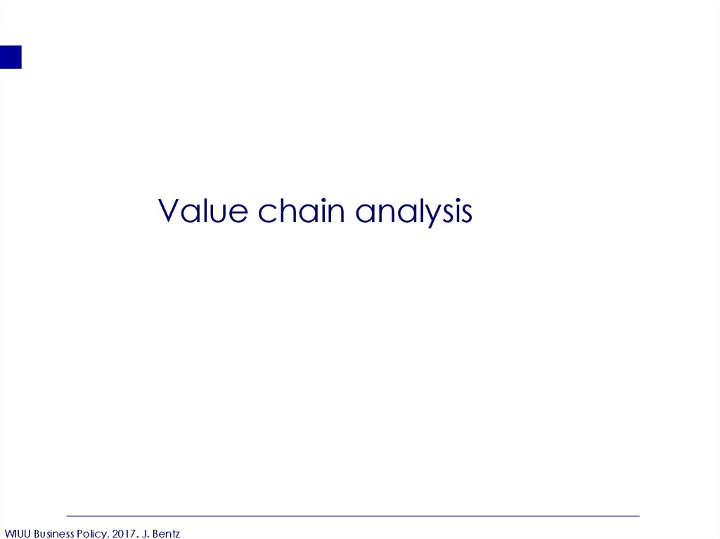 Value chain analysis - online presentation
