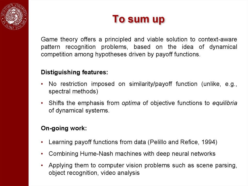 Game-Theoretic Methods in Machine Learning - презентация онлайн