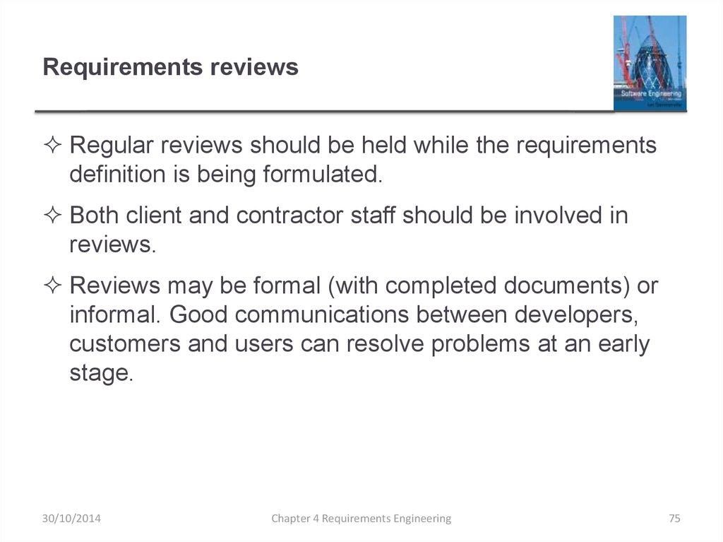 Requirements Engineering - online presentation