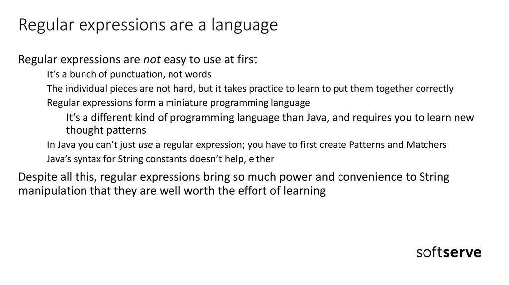 Regular expressions are a language