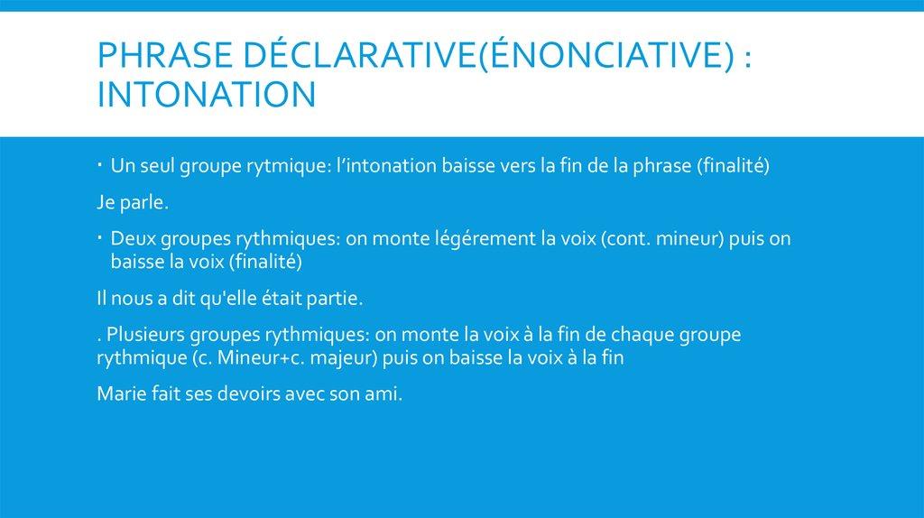 Les Types de Phrases - презентация онлайн