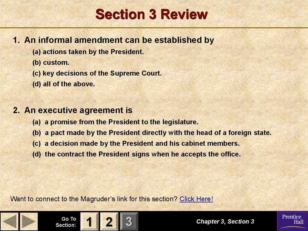 Magruders American Government The Constitution Online Presentation