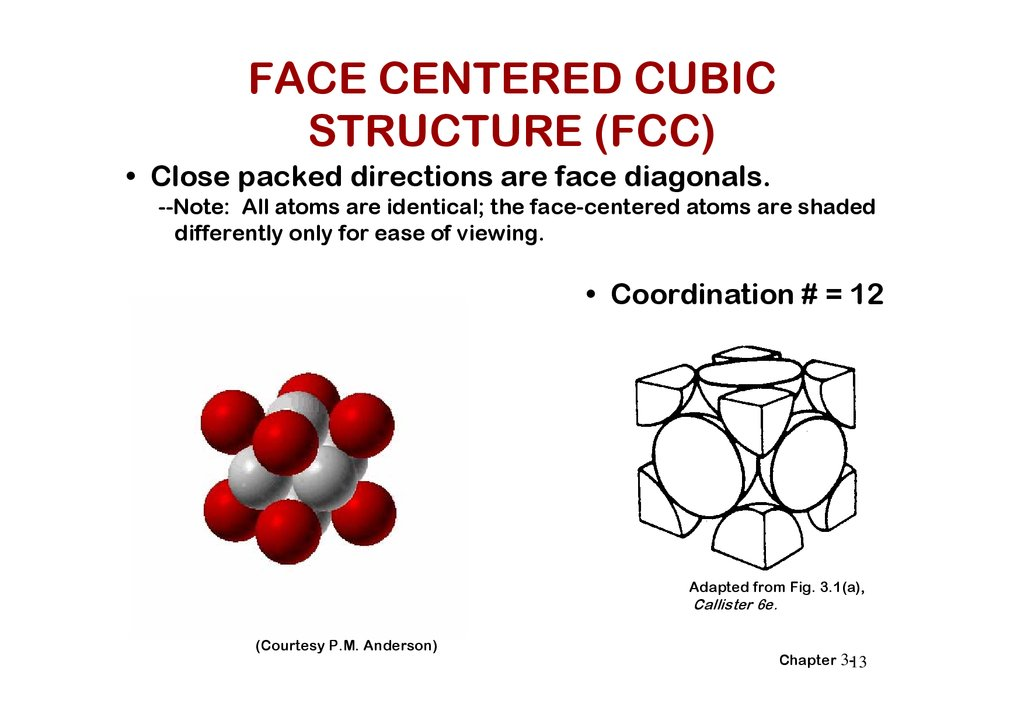 The structure of Metals - online presentation