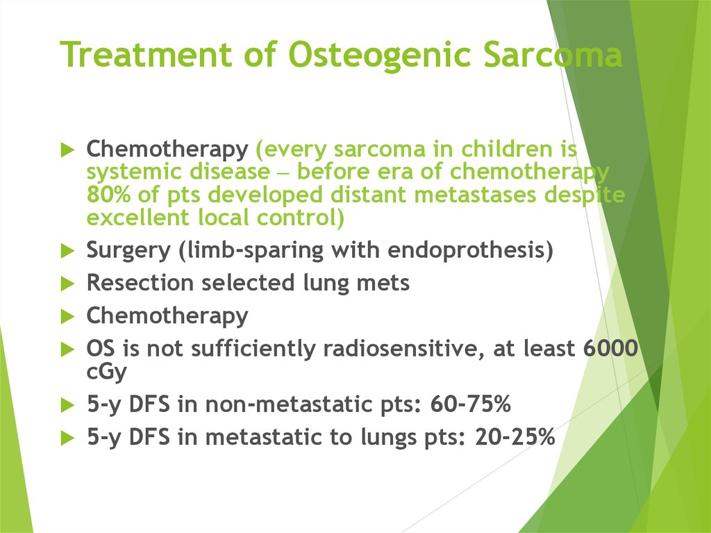 Treatment of Osteogenic Sarcoma
