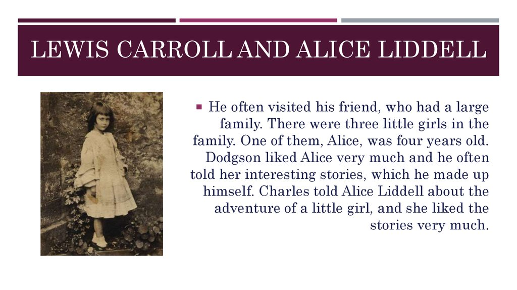Lewis Carroll and Alice Liddell