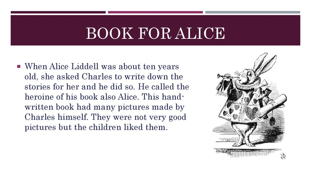 book for Alice