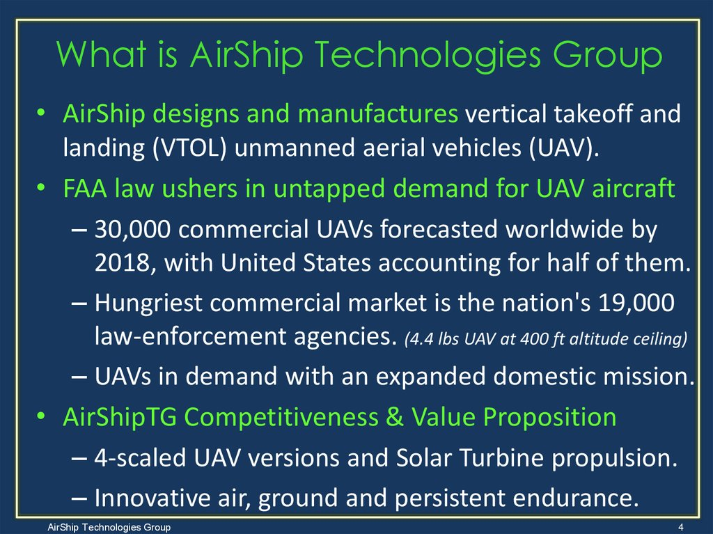 What is AirShip Technologies Group