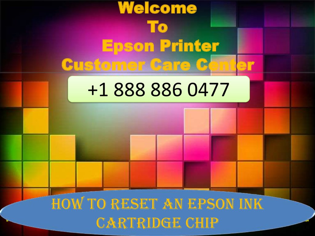 Welcome To Epson Printer Customer Care Center