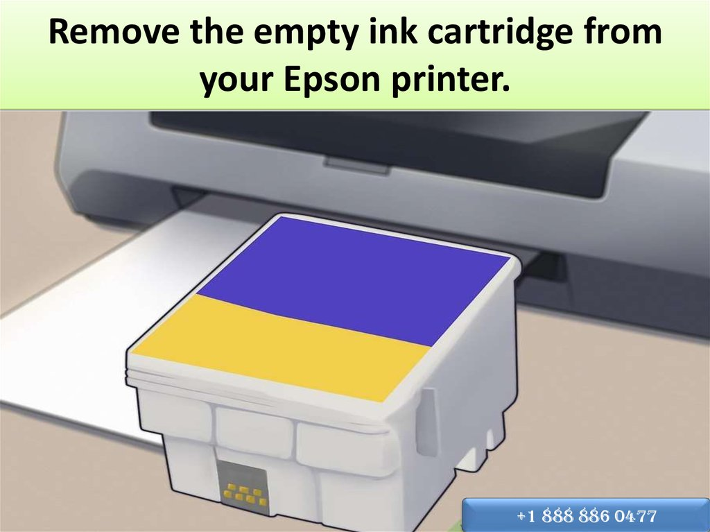 Remove the empty ink cartridge from your Epson printer.