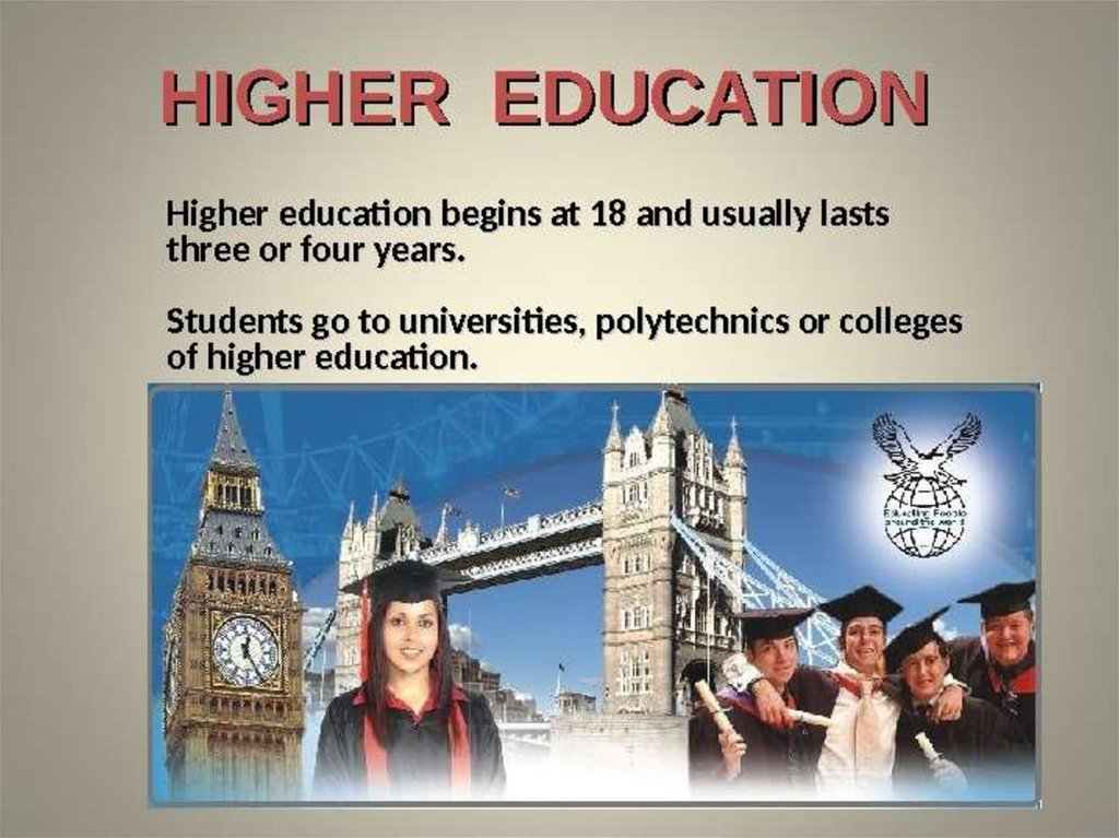 an analysis of the higher education in britain and ireland In 2000 and 2001, the government established a review body on post primary education under the supervision of the minister for education, following the publication on september 28, 2000, of a research report that was critical of the selective system of secondary education in northern ireland.