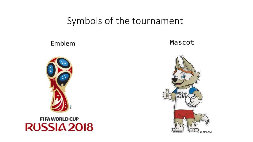 Symbols of the tournament