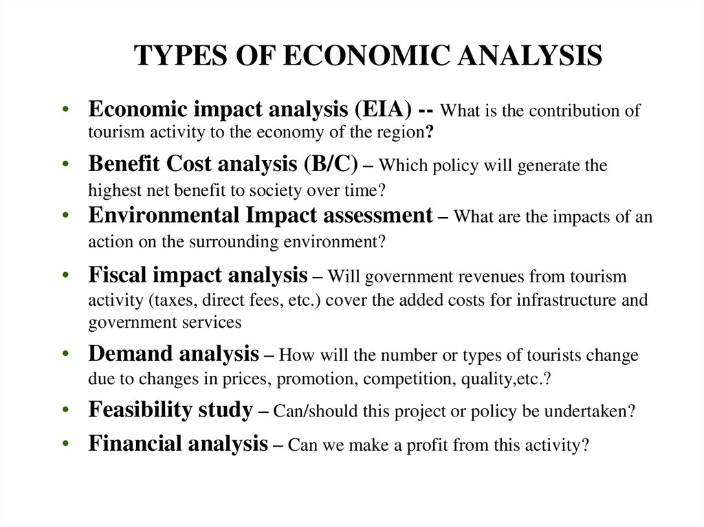 Economic Evaluation Tools - online presentation