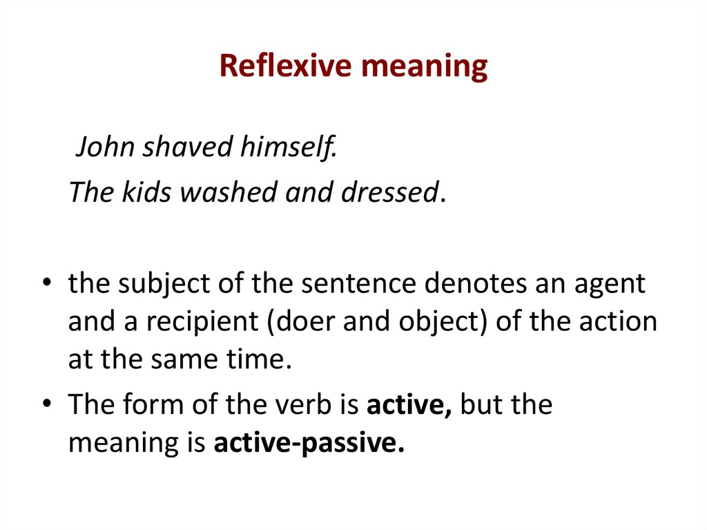 Reflexive meaning
