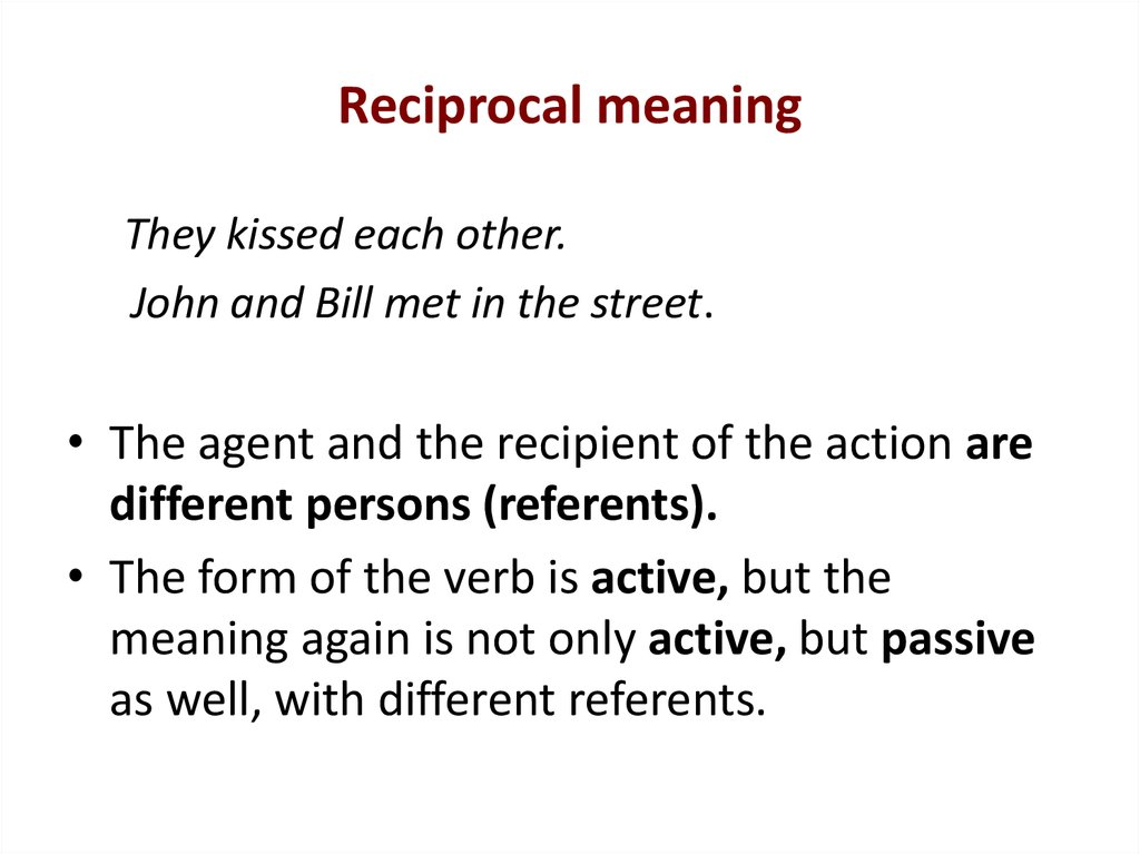 Reciprocal meaning
