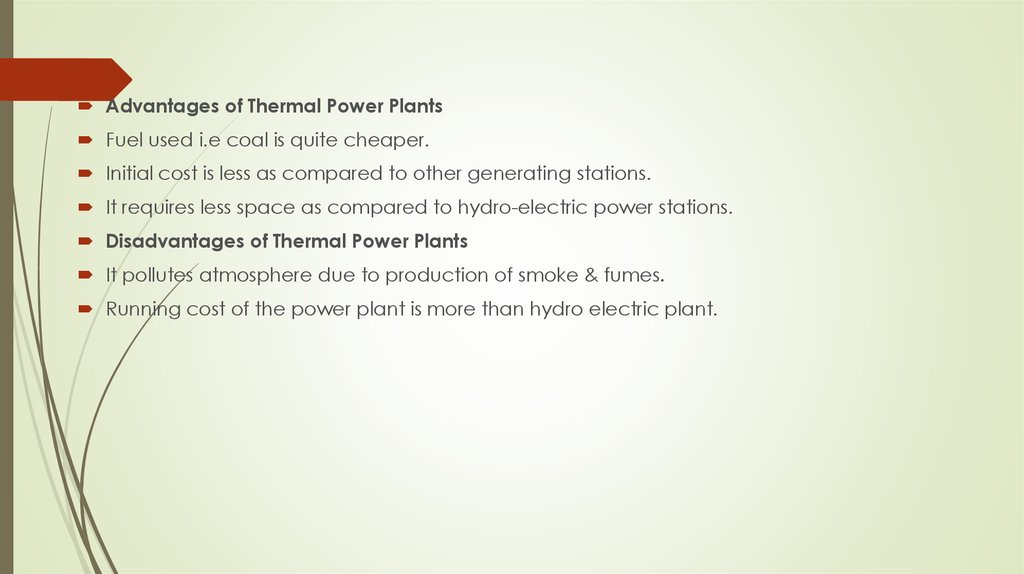 Types of power plants - online presentation