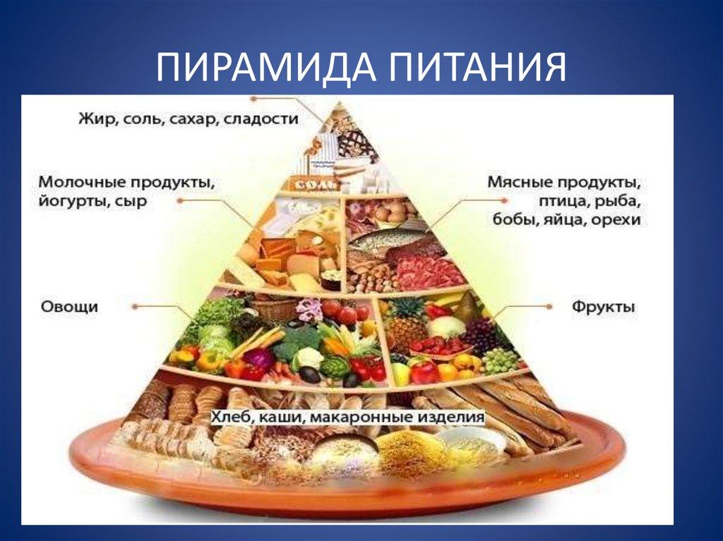 Пищевая пирамида питания с картинками