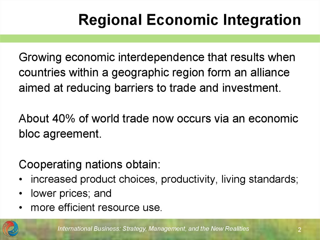 Regional Economic Integration Online Presentation