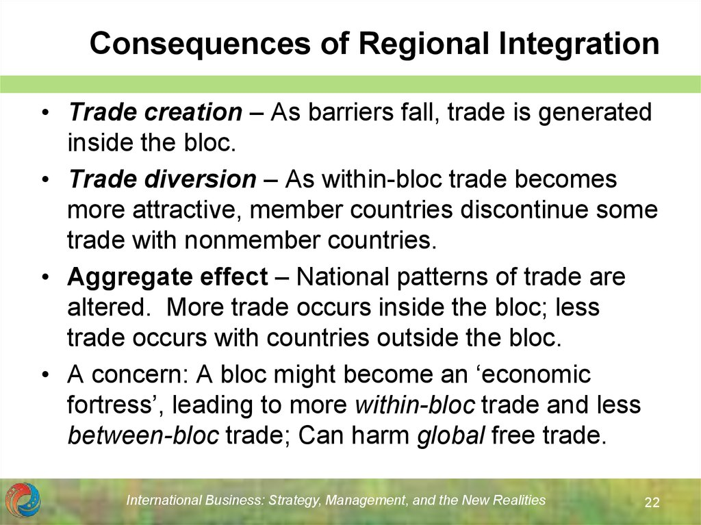 Consequences of Regional Integration