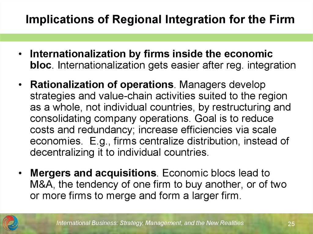 Implications of Regional Integration for the Firm