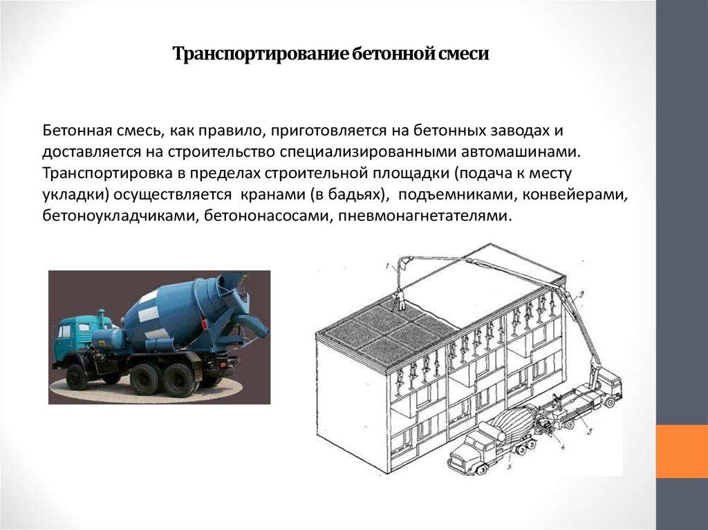 общие сведения о бетонных смесей
