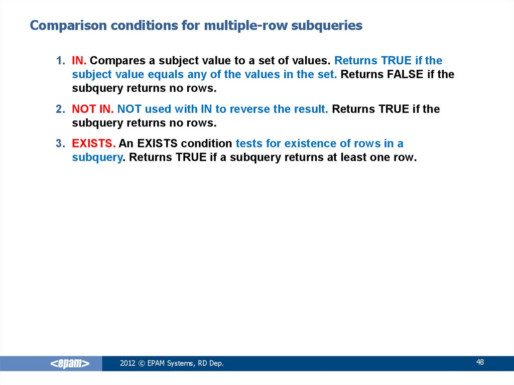 Oracle sql foundation - online presentation