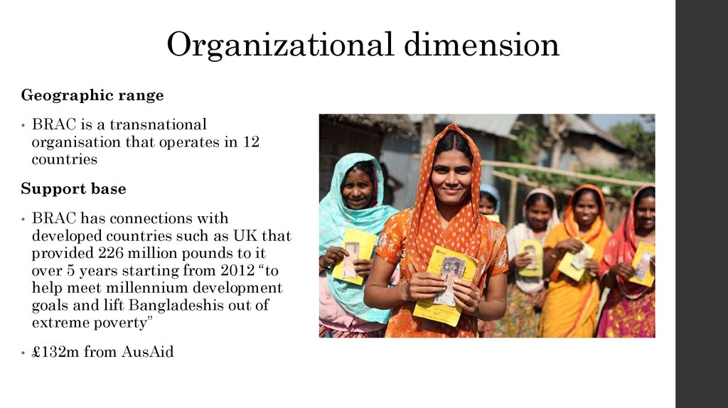 Organizational dimension