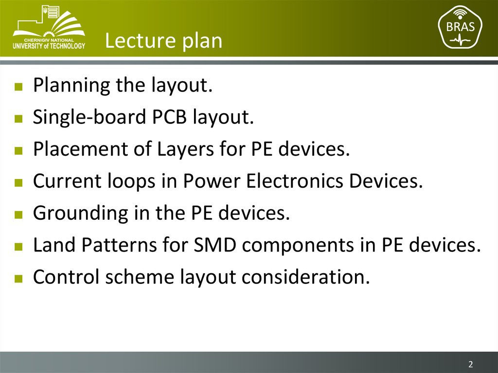 Placement and routing guidelines for Power Electronics