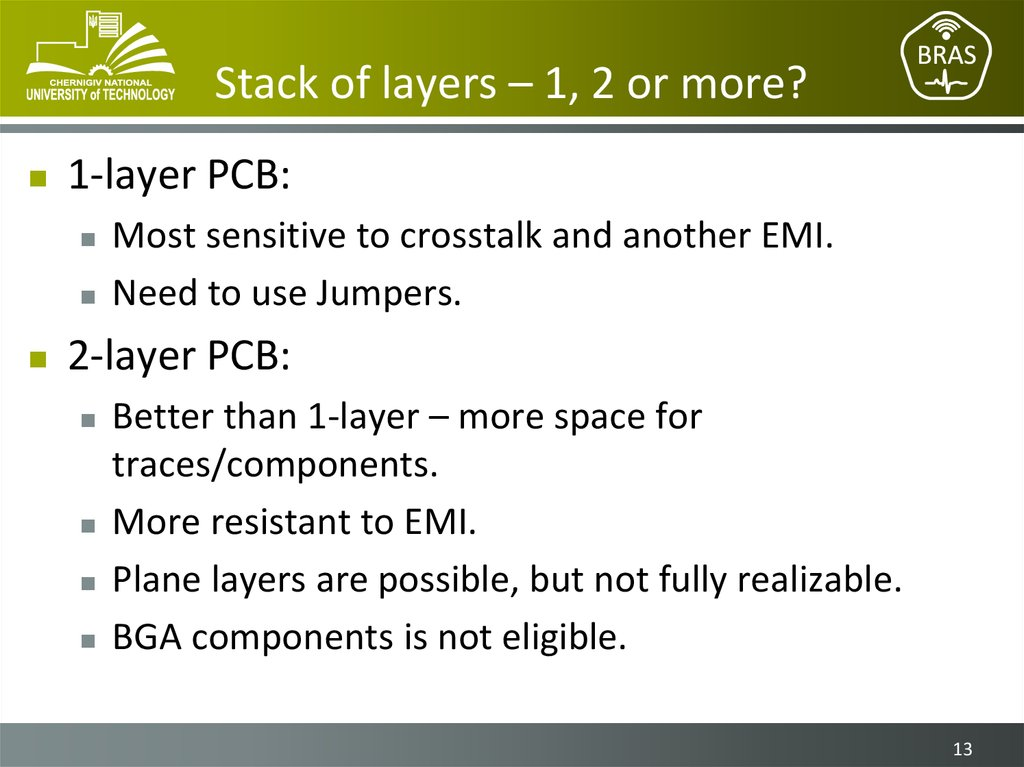 Stack of layers – 1, 2 or more?
