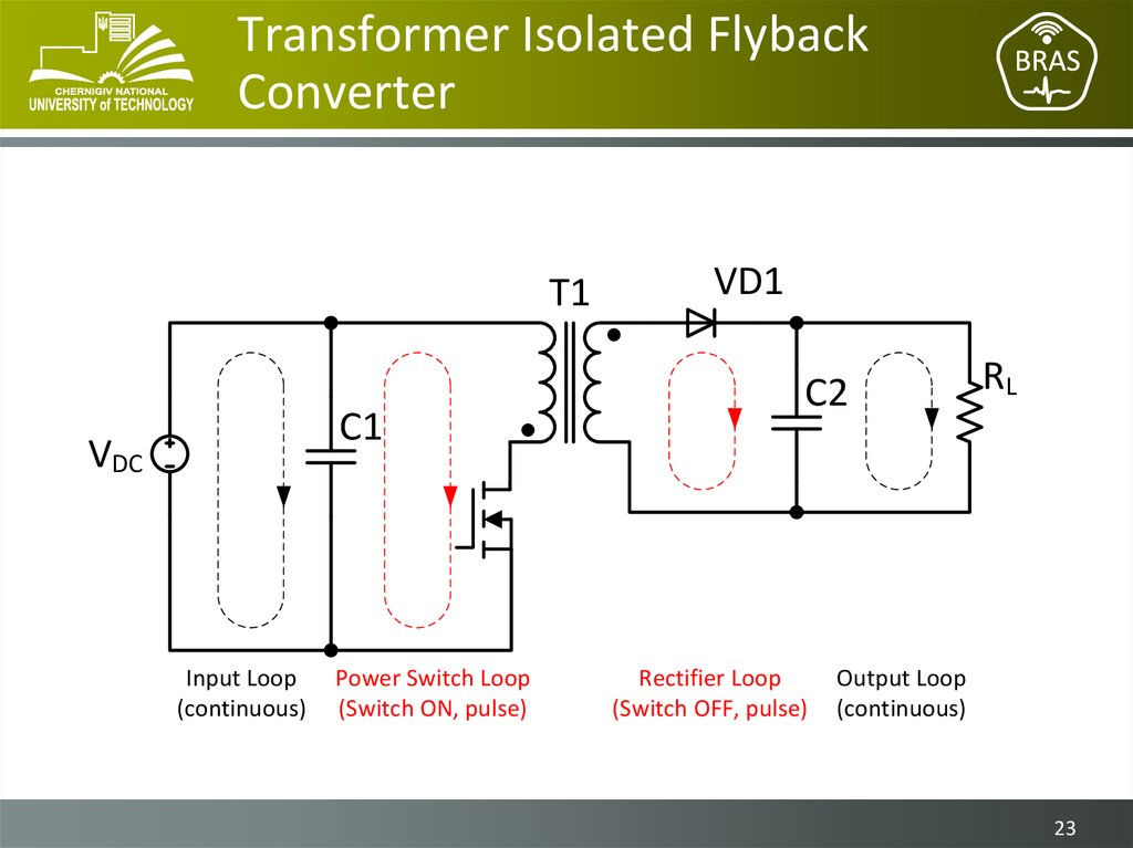 Transformer Isolated Flyback Converter