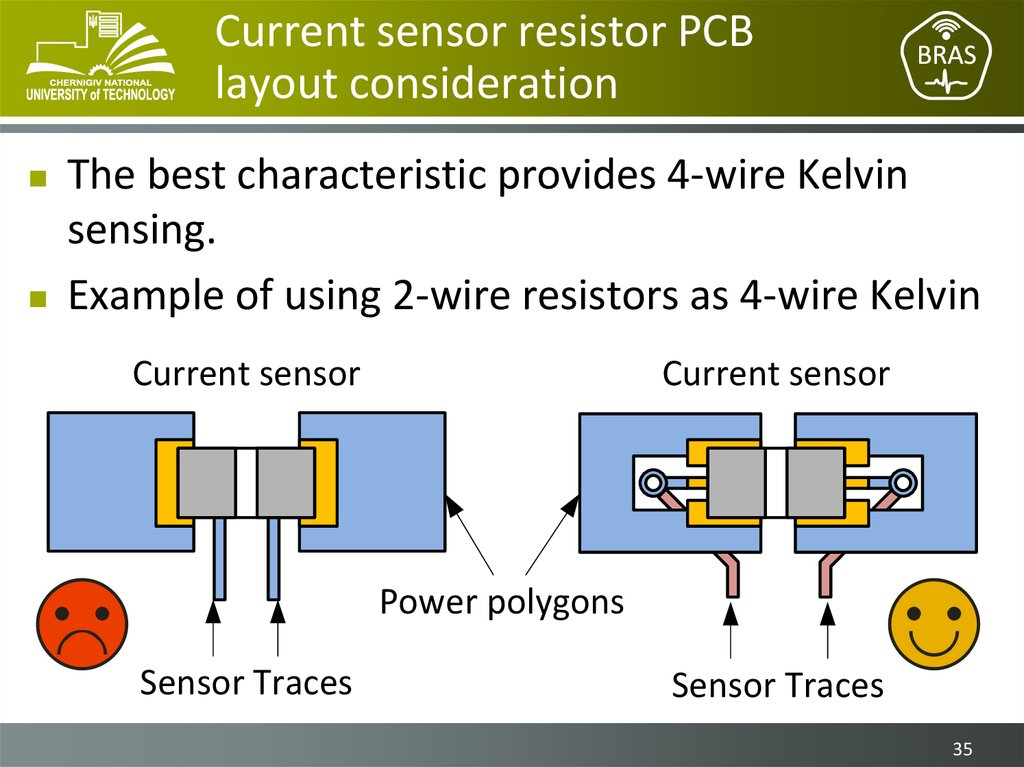 Current sensor resistor PCB layout consideration
