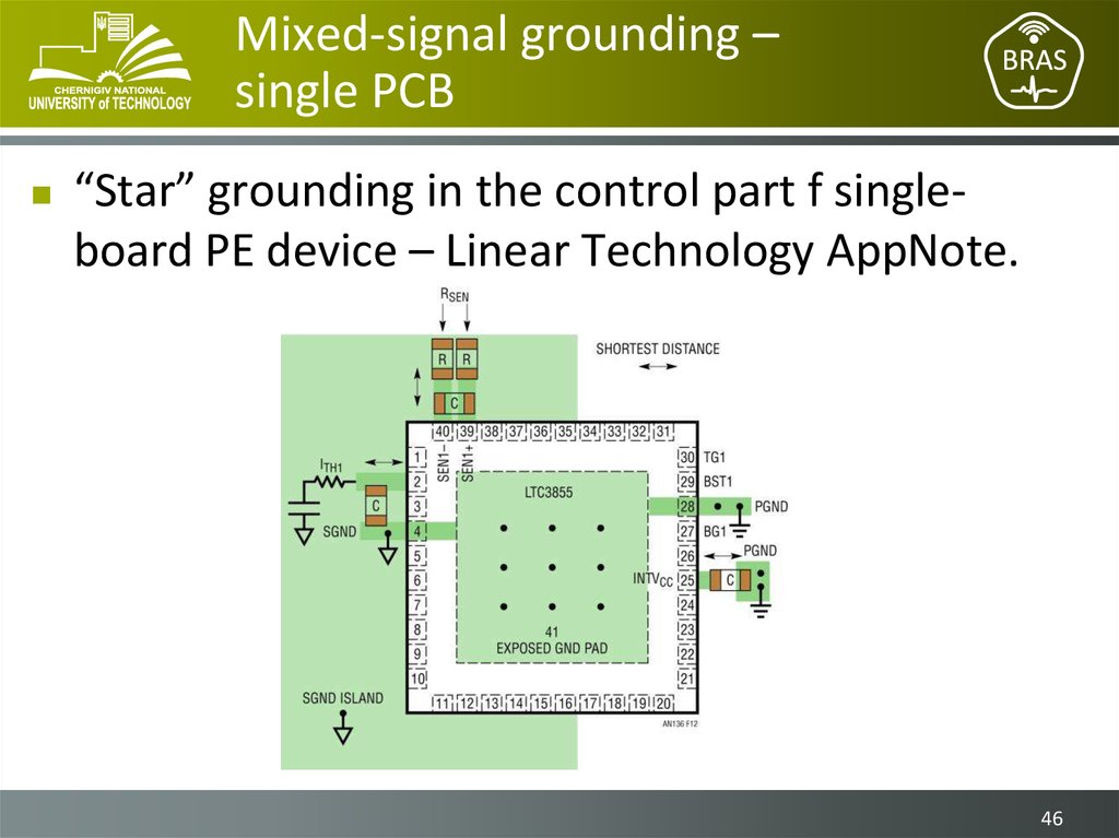 Mixed-signal grounding – single PCB