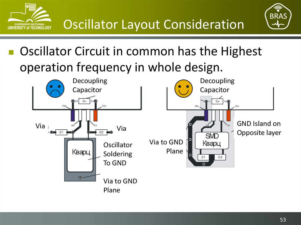 Oscillator Layout Consideration