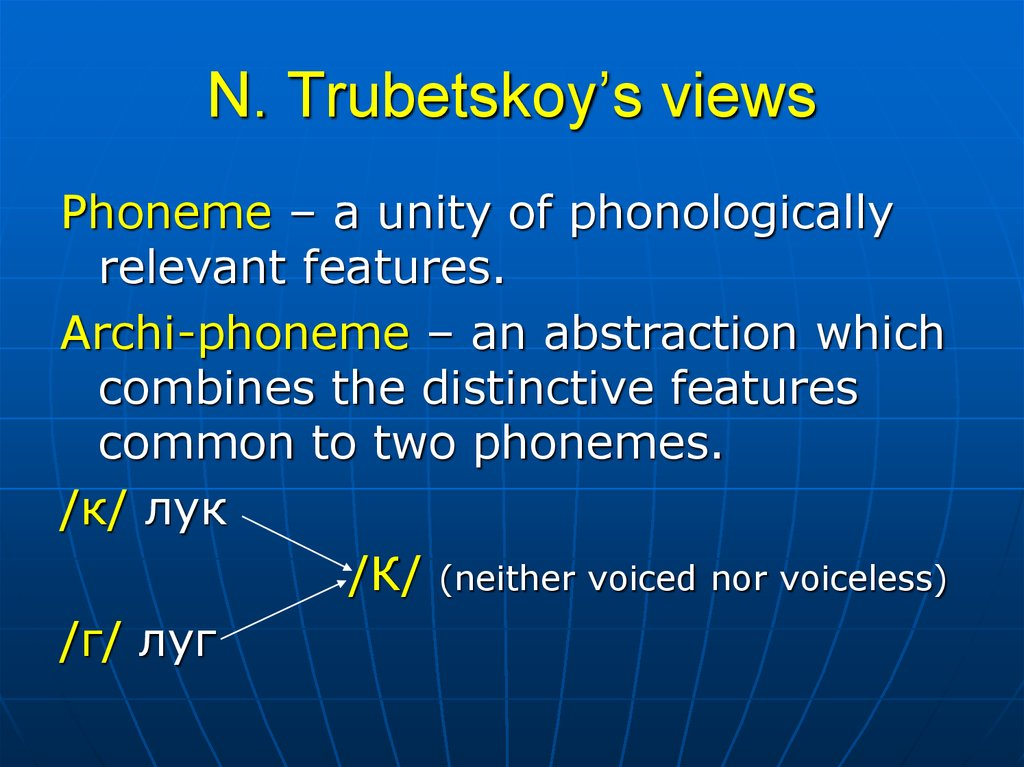 N. Trubetskoy's views