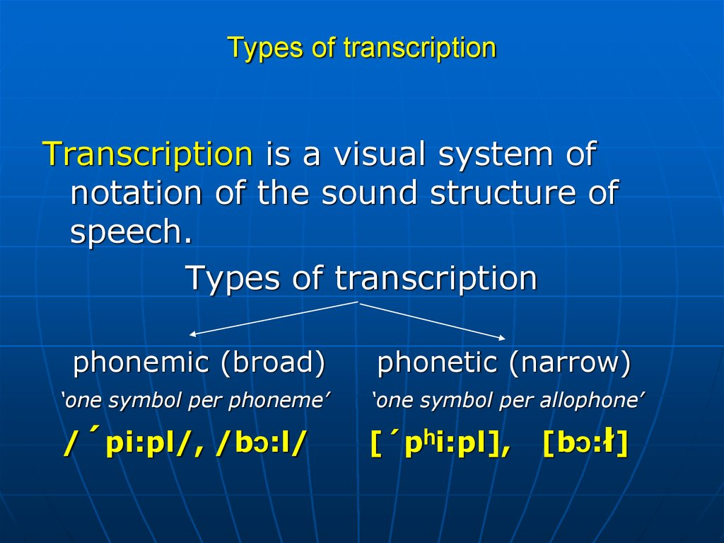 types of phonetics Phonetics is also widely used in teaching correct pronunciation and allocution of actors, singers, tv announcers on the basis of established orthoepical norms orthoepy is the correct pronunciation of the words of a language.