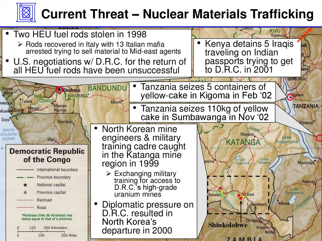 Current Threat – Nuclear Materials Trafficking