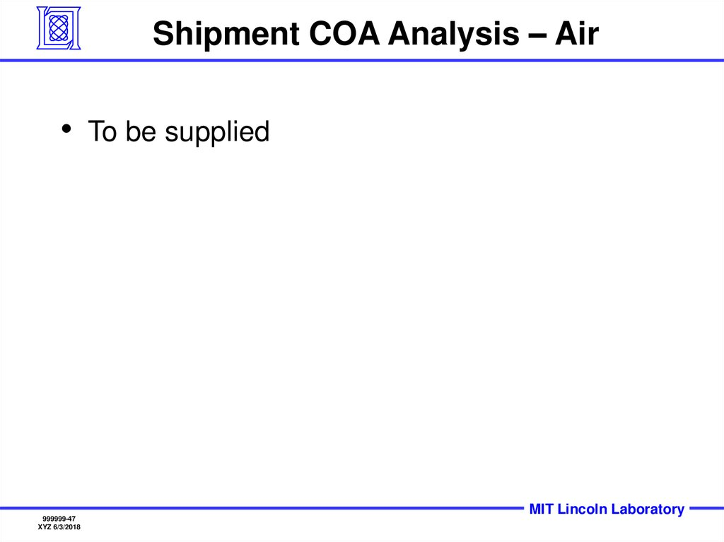 Shipment COA Analysis – Air
