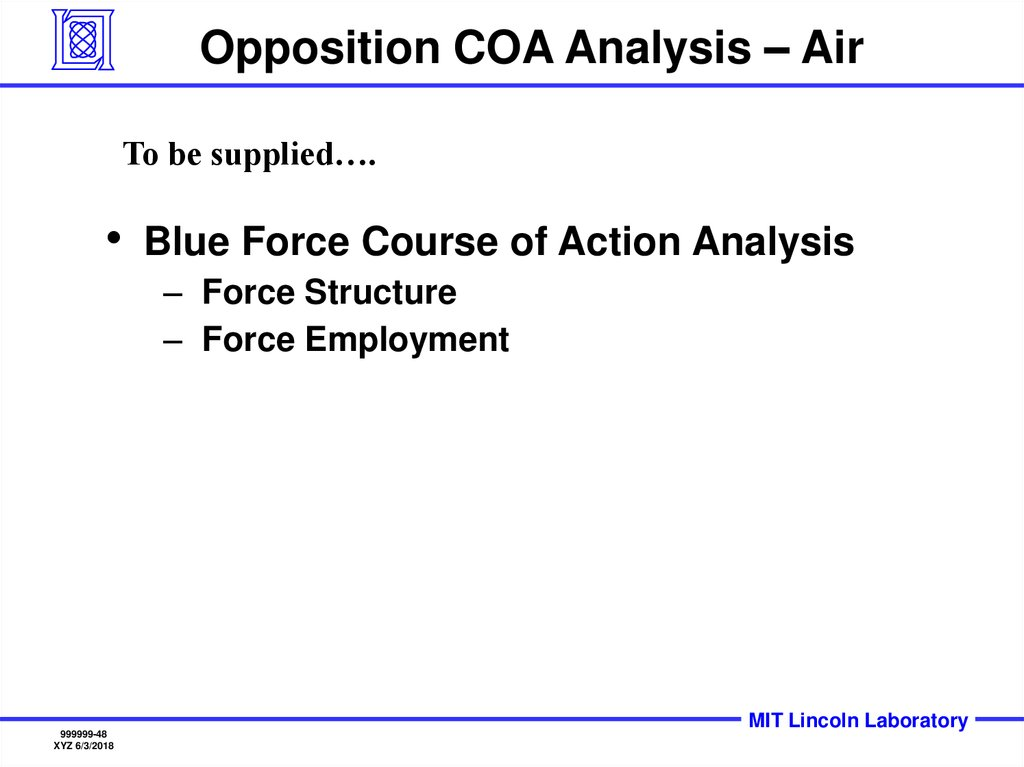 Opposition COA Analysis – Air