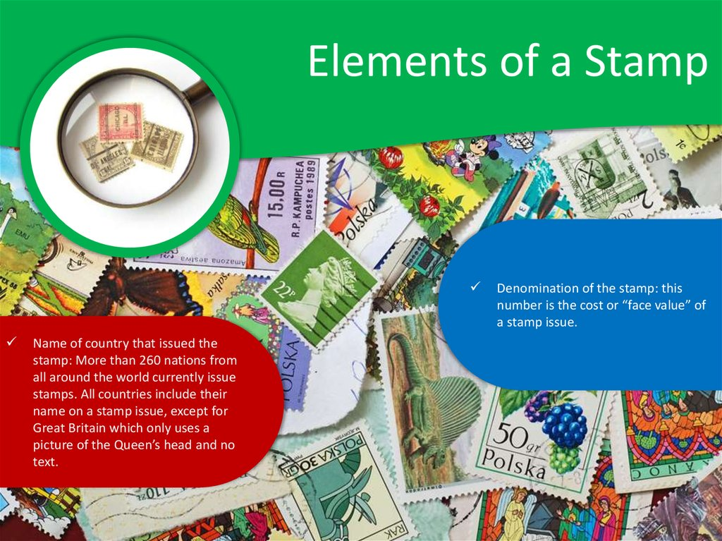 Elements of a Stamp