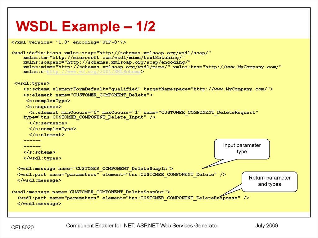 Component Enabler for  NET - online presentation