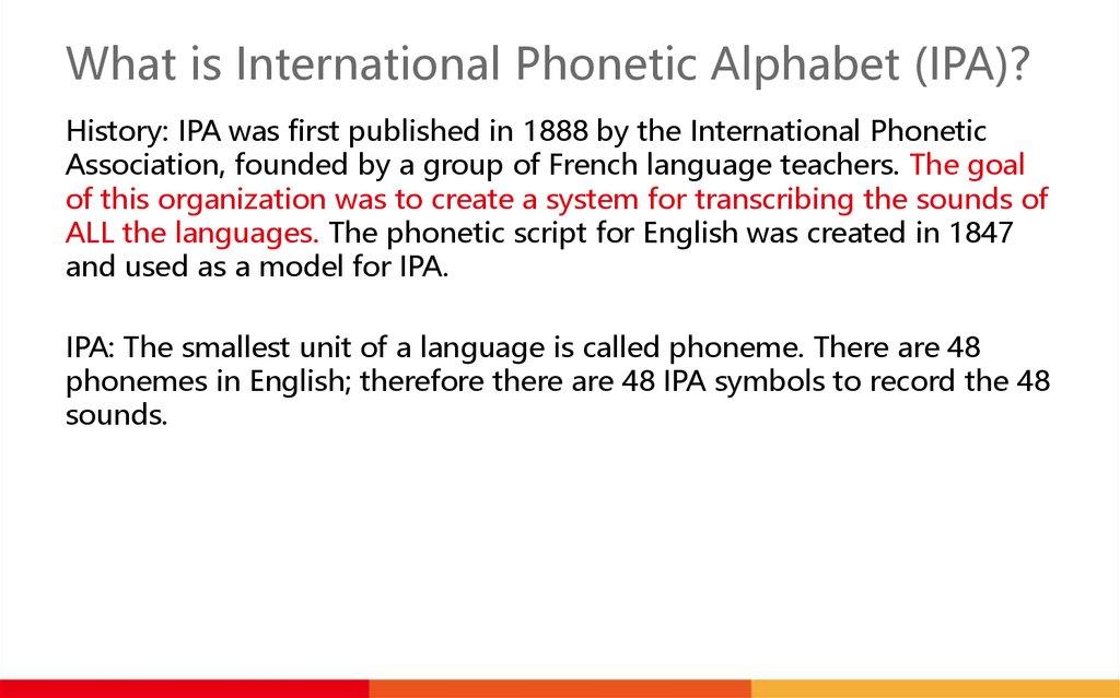 International Phonetic Alphabet Online Presentation