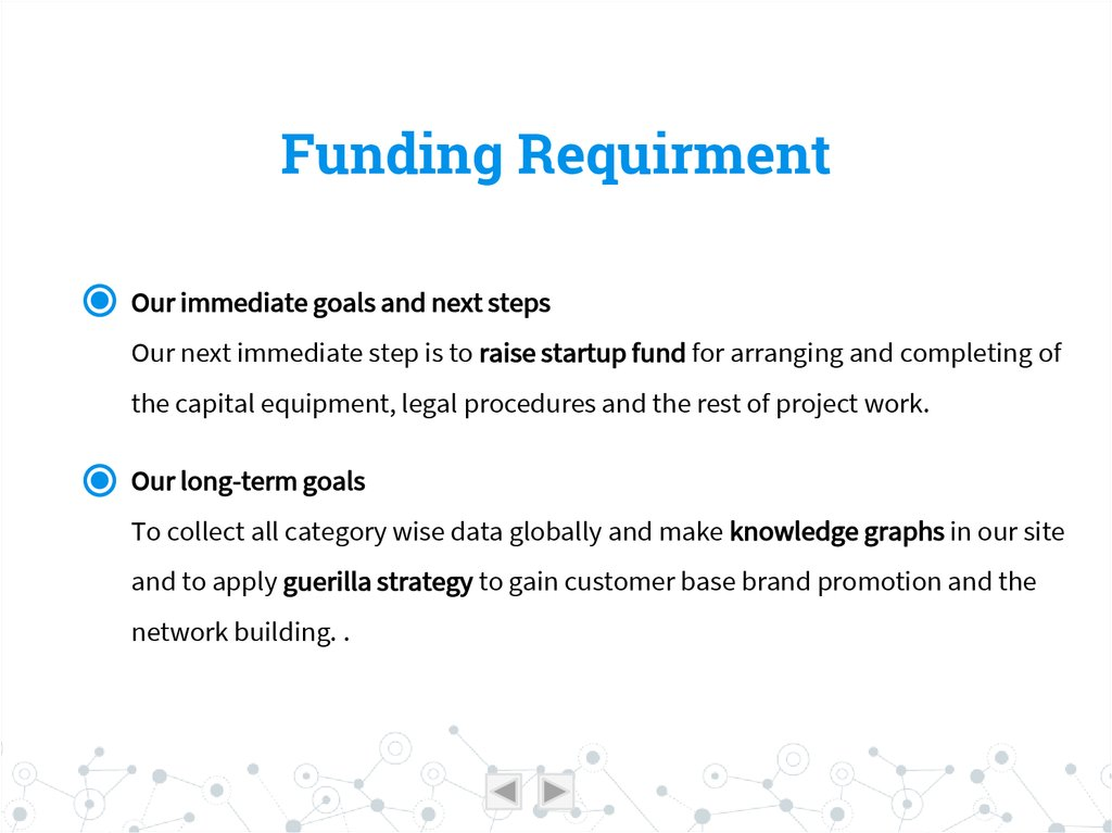 Funding Requirment
