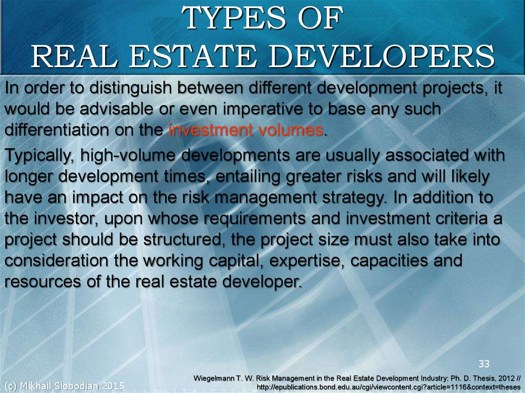 phd thesis on real estate