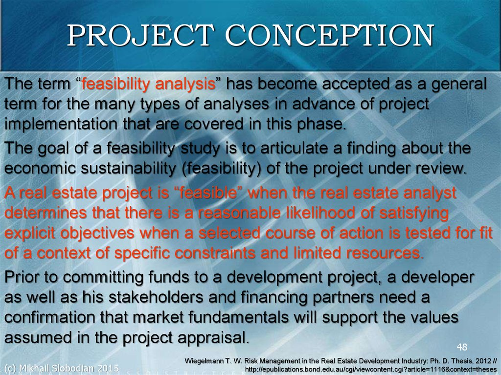 PROJECT CONCEPTION