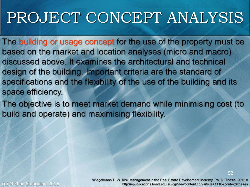 PROJECT CONCEPT ANALYSIS