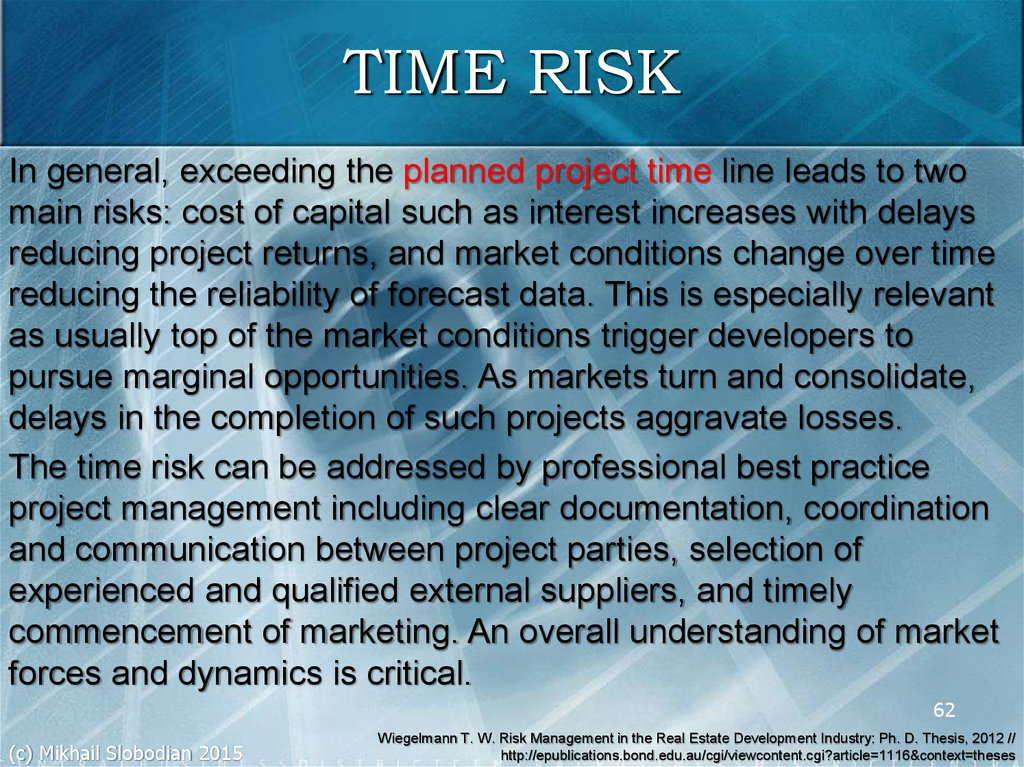 TIME RISK