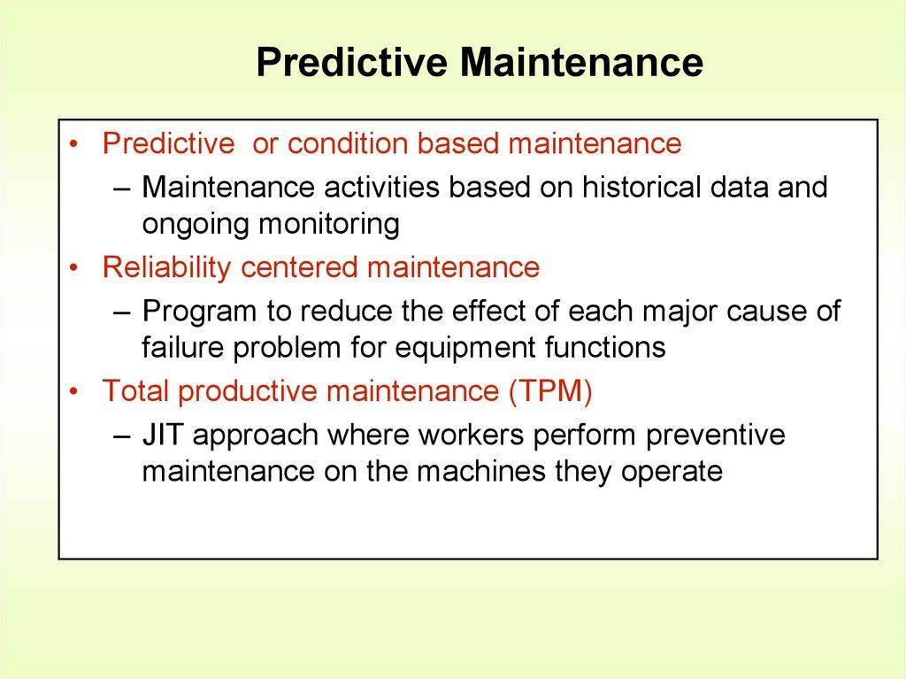 Scheduling & control  Chapter 16 - online presentation